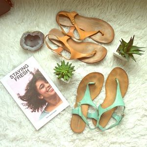 ALDO leather thong sandals